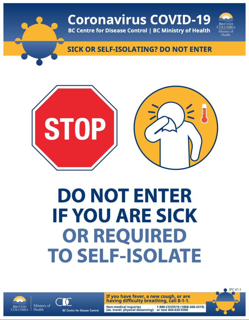 COVID-19 Self awareness poster