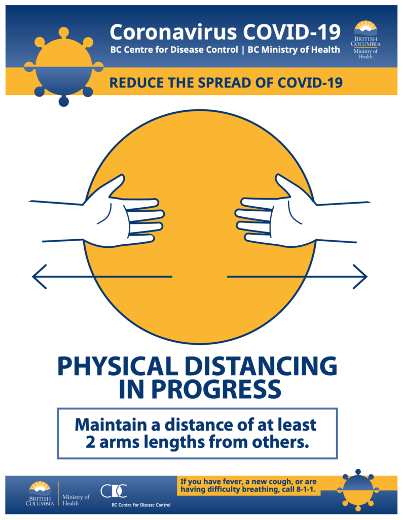 COVID-19 Social distancing poster